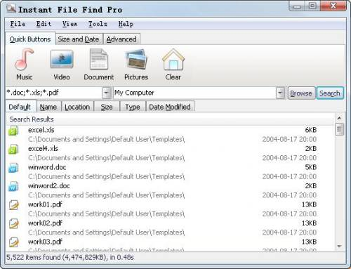 Click to view Instant File Find Pro 1.14.0 screenshot
